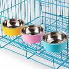 1PC Bowl Feeding Bowl Stainless Steel Dogs Dog Bowl Water Pet Small Pets Cage