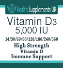 Vitamin D3 5000IU Tablets High Strength, Immune Health, Bone Support, Vitamin D