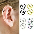 Stainless Steel 1 Peace Ear Cuff Non Piercing Clip Hot Fake Earrings On V7f8