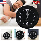 Alarm Clock Silent Wall Smooth Sweeping Quartz Watch Hanging Non-ticking Home US
