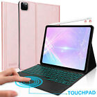 """For iPad Pro 12.9"""" 2018 2020 Magnetic Flip Smart Cover Touchpad Backlit Keyboard"""