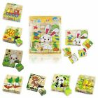Children Cartoon 3D Puzzle Block Colorful Educational Wooden Kids Toy XMAS Heavy