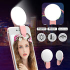 Clip on Round Universal LED Mobile Phone Photography Selfie Flash Fill Light Eag