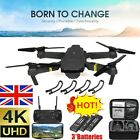 E58 Foldable RC Drone X Pro Quadcopter 1080P/4K  HD Camera WIFI FPV 1~3 battery