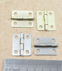 10 Or 20 Small Plated Miniature Hinges 12mm X 8mm Dollhouse Jewellery  Cigar Box