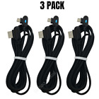 3 Pack 3Ft 6Ft 90 Degree Micro USB Cable Fast Charge Right Angle Android Charger