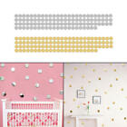 100pcs 2cm Round 3d Mirror Wall Stickers Room Decal Diy Modern Home Decoration
