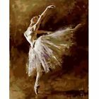 Paint By Number Kit Ballerina Dancer DIY Picture Canvas Brush Home Decoration