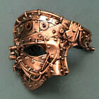Rose Gold Steampunk Phantom Mask Masquerade ball Carnival Costume Prom Party