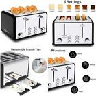 4 Slice Toaster, Keenstone Stainless Steel Retro Toasters With 1.5'' Wide Slot,