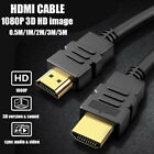 HIGH SPEED HDMI CABLE GOLD PLATED FOR HDTV PS4 DVD BLURAY XBOX...