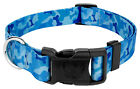 Country Brook Design® Blue Bone Camo Deluxe Dog Collar - Made in The U.S.A.