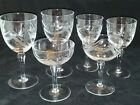 Mid century modern Abstract Cuts Stemware Arches Dots