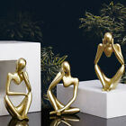 Abstract Character Golden Decoration Creative Home Ornament Office Decor gift NS
