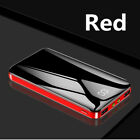 Large Capacity 2000000mAh Power Bank 4USB LCD Portable External Battery Charger