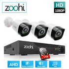 Security Camera System Outdoor AHD CCTV Home 1080P HD 4CH DVR HDMI With 1TB IR