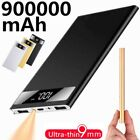 Portable 900000mAh Digital Power Bank 2 USB LCD External Battery Pack Charger US
