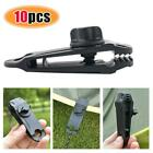 10Pcs Tent Awning Canopy Clamp Tarp Clip Snap Canvas Anchor Gripper Jaw Grip