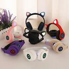 Rechargeable Cat Ear Shape Wireless Bluetooth Headphone Gaming Headset Eager