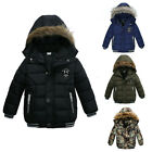 Kids Baby Boys Hooded Winter Warm Coat Outerwear Toddler Jacket Windbreaker Coat