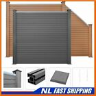 Best! WPC Fence Set Outdoor Garden Panel Lawn Border Posts Multi Choice