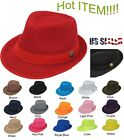 Light Weight Mesh Fedora hat Soft Cool Summer Classic Trilby COOL MESH