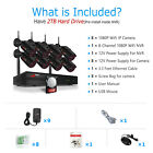 ANRAN 8CH CCTV Security Camera System Wireless NVR Outdoor IP 1080P 2TB Home Kit