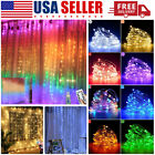 US 9.8FT 300 LED Window Curtain Fairy String Lights Party Wedding Xmas Decor