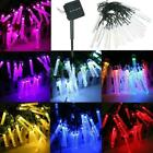 Multi-Color LED Solar Powered Icicle Bubble String Fairy Light Christmas Outdoor