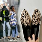 Womens Pointed Toe Creepers Slip On Loafers Suede Leather Non-slip Casual Shoes