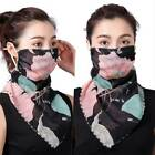 Womens Ladies Floral Print Half Face Mask Neck and Mouth Cover Scarf Bandana