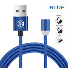 US 1~3M 360° Strong Magnetic LED Plug Charging Cable For iPhone Sumsung Charger