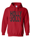 Christmas Pullover Hoodie Sweatshirt Holly And Jolly