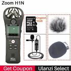 Stereo Microphone 16GB Card Lavalier Recorder DSLR Audio Video Interview Podcast