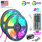 32.8 Feet RGB 5050 Flexible Led Strip Lights SMD 44 Key Remote 12V DC Power Kit
