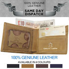 Men's 100% Genuine Bifold Slim Leather Wallet ID Credit Card Money Holder