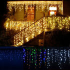 78FT LED Curtain Icicle Fairy String Snowing Light Christmas Party Xmas Decor