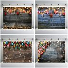 Merry Christmas Photography Wood Background Studio Props Family Photo Backdrop
