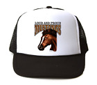 Trucker Hat Cap Foam Mesh School Team Mascot Mustangs Loud Proud