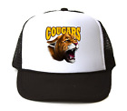 Trucker Hat Cap Foam Mesh School Team Mascot Cougars