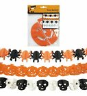 Halloween Party Hanging Garland Pennant Banner Ornament Paper Pumpkin Skull
