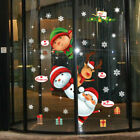 Christmas Xmas Santa Removable Window Stickers Art Decal Wall Home Shop Decor Q2