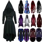 Women Halloween Medieval Hooded Dress Gothic Witch Vampire Clothes Party Cosplay