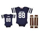 Dallas Cowboys CeeDee Lamb Jersey Bodysuit Navy Blue Shirt Set