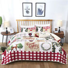Warm Quilt Bedspread Coverlet Pillowcase Set Full/Queen King Size Modern 4 Style
