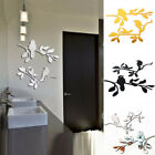 Walplus Bird Tree Mirror Wall Sticker Self-adhesive Decals Room Home Decorations