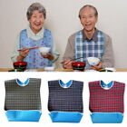 Adult Mealtime Protector Bib Waterproof Pocket Bibs Disability Aid Apron 3 Color