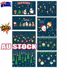 Christmas Wall Stickers Adhesive Window Decals Santa Xmas Festival Home Decor Nw