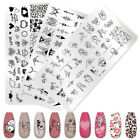 PICT YOU Geometry Nail Stamping Plates Templates Leaf  FlowerStainless Steel DIY