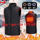 Electric Vest USB Heated Jacket Winter Windproof Body Warmer Gilet Coats UK